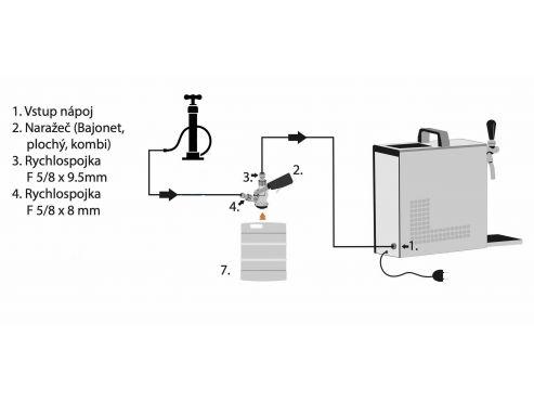 zapojení na tlakování autopumpou