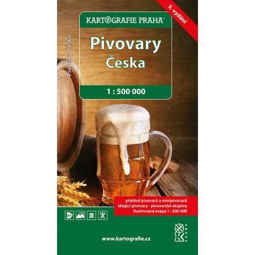 Mapa pivovaru ČR 5. vydání