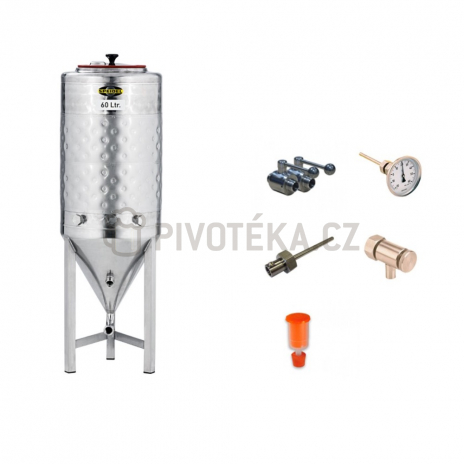 Cylindrokónický fermentační tank netlakový 60l + příslušenství Speidel