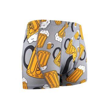 Boxerky pivo -světle šedé velikost L