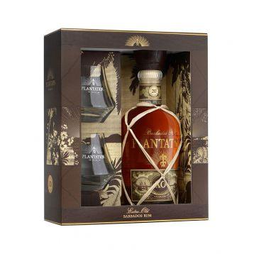Plantation 20th anniversary + 2 x sklo gift box  0,7l 40%