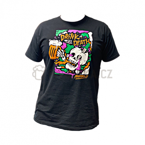 Triko Drink Till Death L pánské
