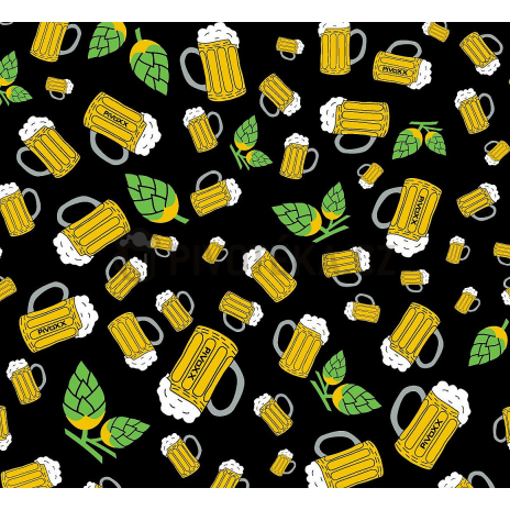 Multifunkční návlek Voox uni  vzor pivo + chmel