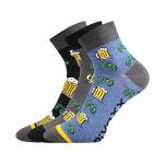 Ponožky pivo 01 MIX velikost 39-42 3 páry