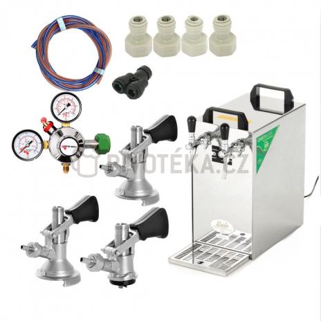 Lindr kontakt 40 3x naražeč + redukční ventil N2