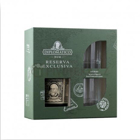 Diplomatico Reserva Exclusiva Old Fashioned 2 x sklo 0,7l 40%