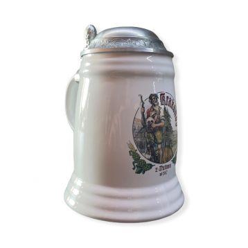 Keramický džbán krakonoš víčko bílý 0,5l