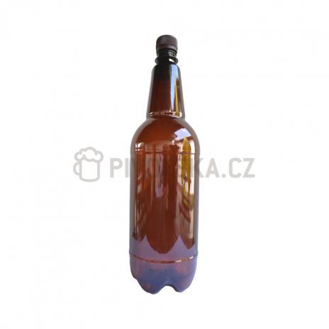 PET láhve  hnědé  1,5l + uzávěr 24ks